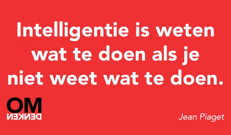 Intelligentie is weten wat te doen als je niet weet wat te doen.