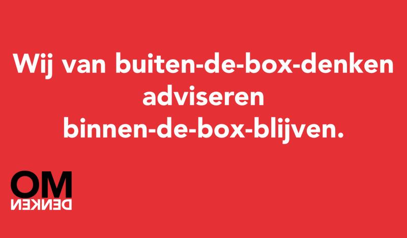 Wij van buiten-de-box-denken adviseren binnen-de-box-blijven. #blijfthuis