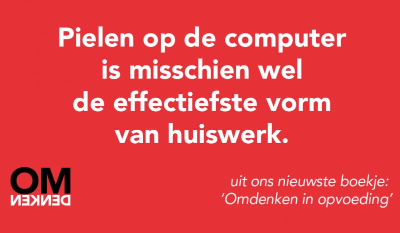 Pielen op de computer is misschien wel de effectiefste vorm van huiswerk.