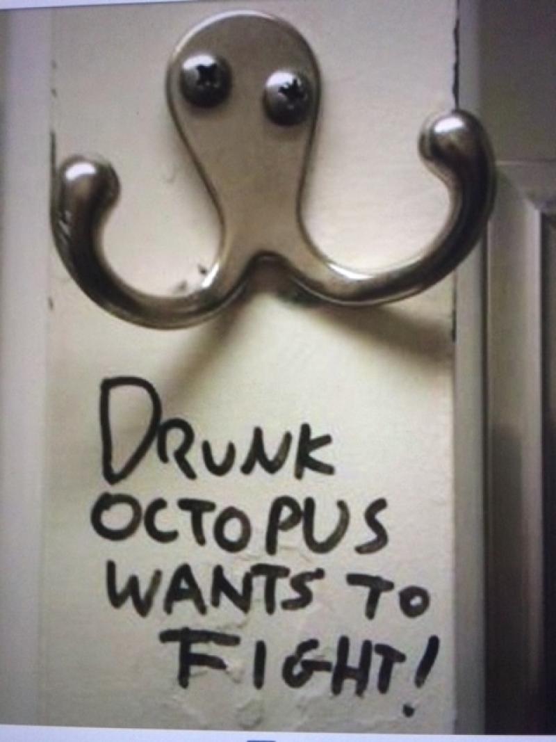 Dronken octopus