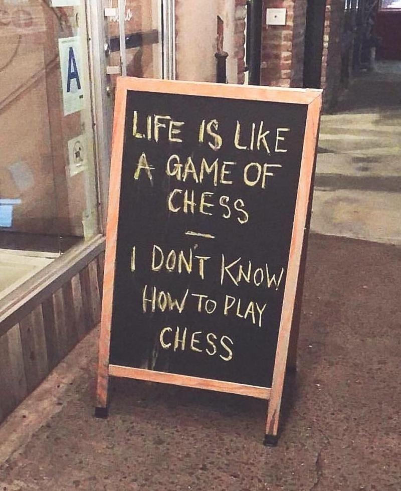 Het leven is als schaken...
