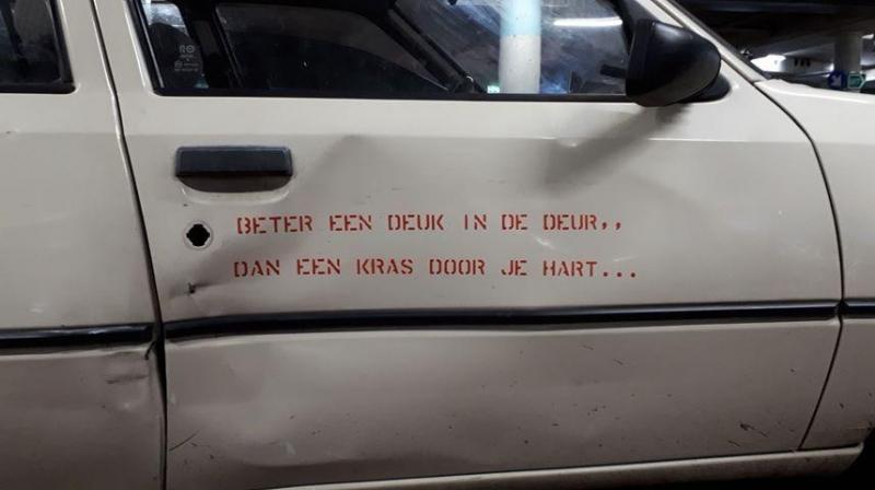 Optimistische automobilist