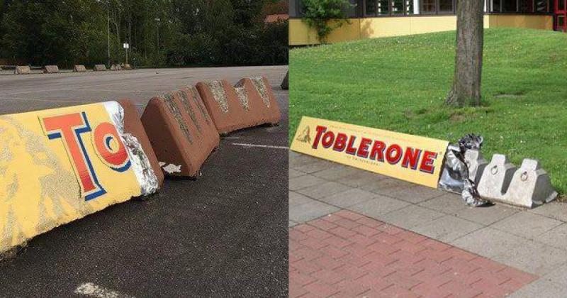 Toblerone verkeersbarrière
