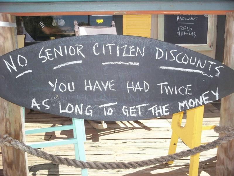 Geen seniorenkorting