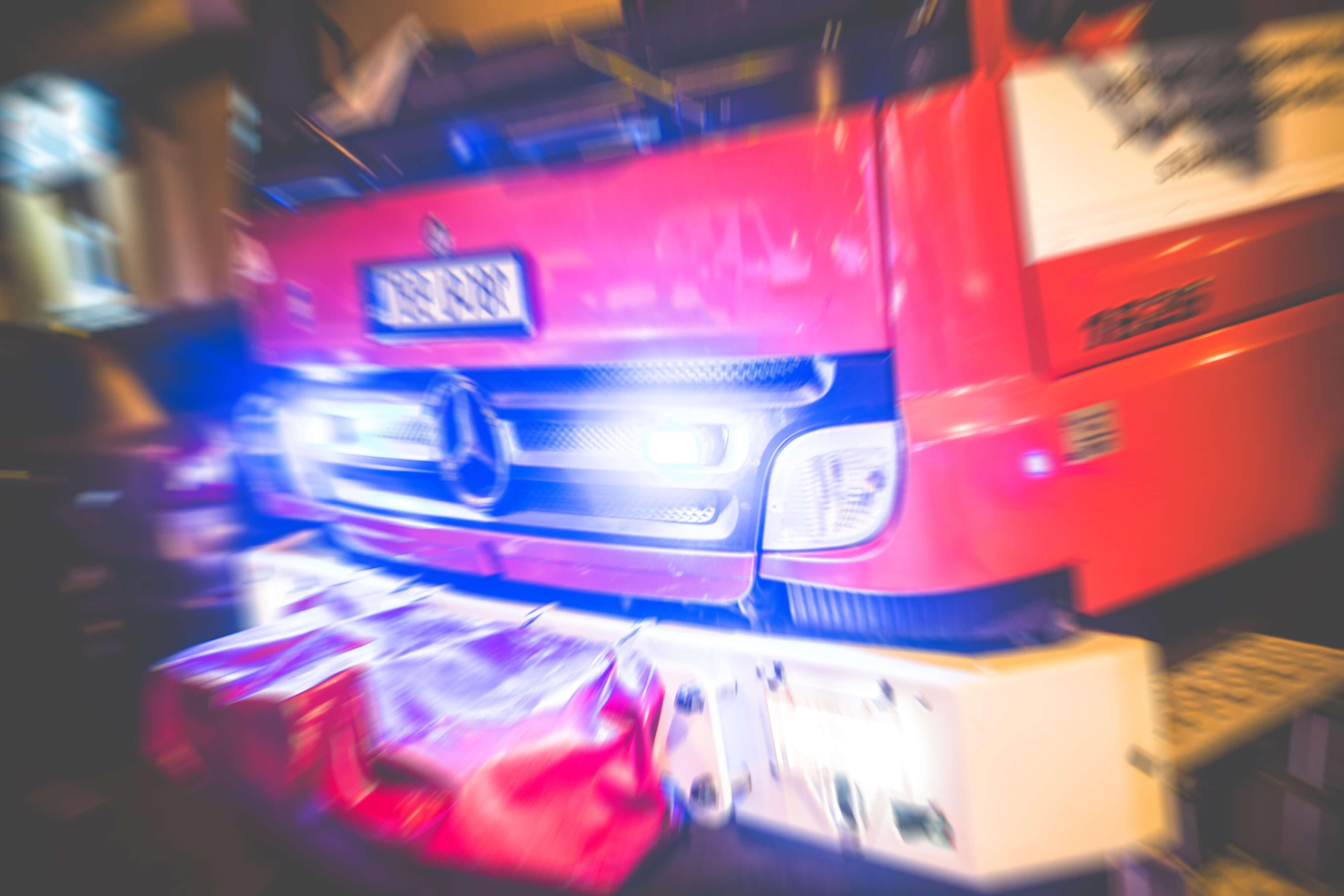 Gekantelde vrachtwagen