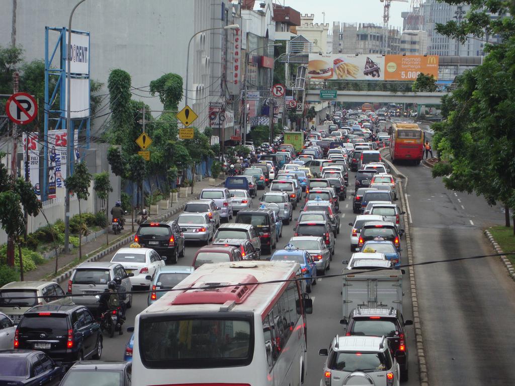 Bali Indonesia City Buildings Roads