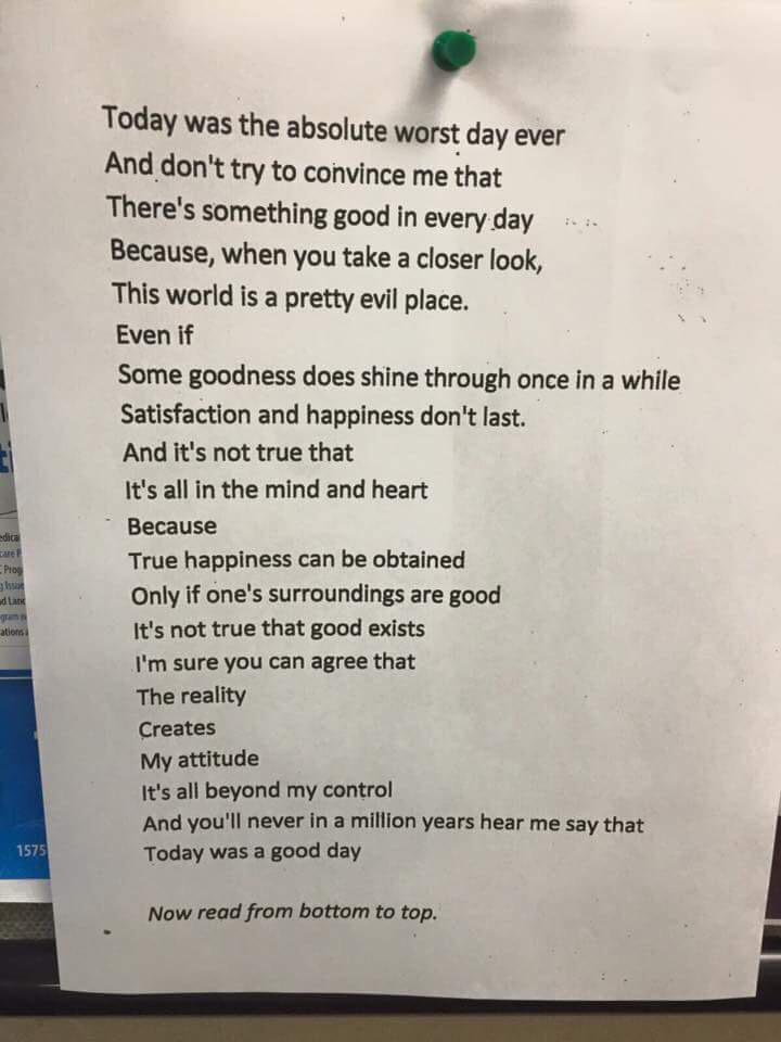 Omgedacht gedicht