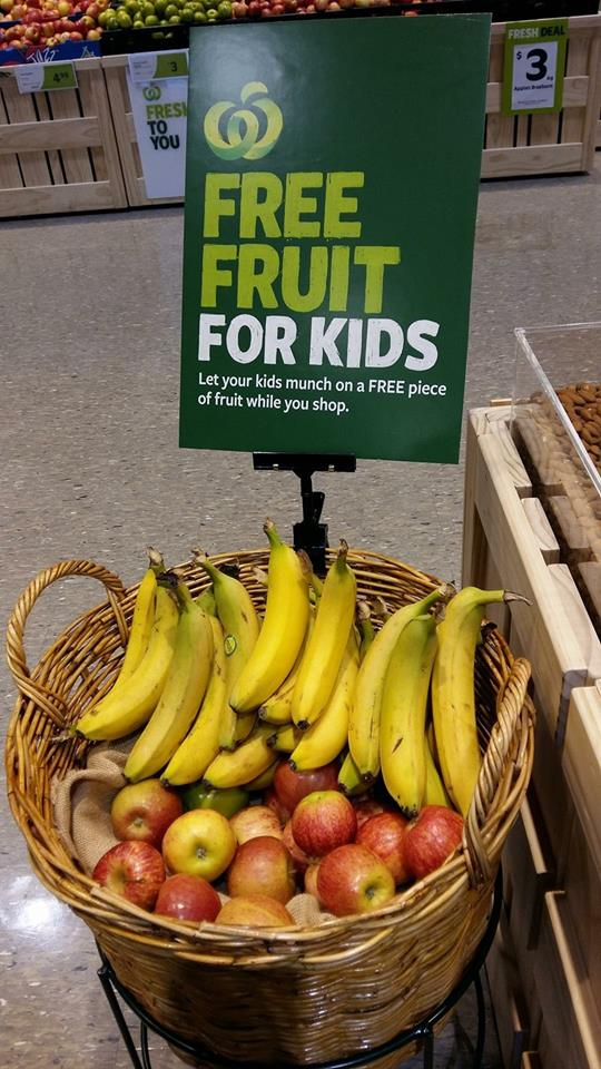 Gratis fruit snack