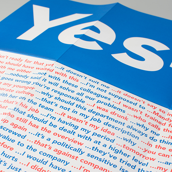Yes-but affiche – 5 stuks