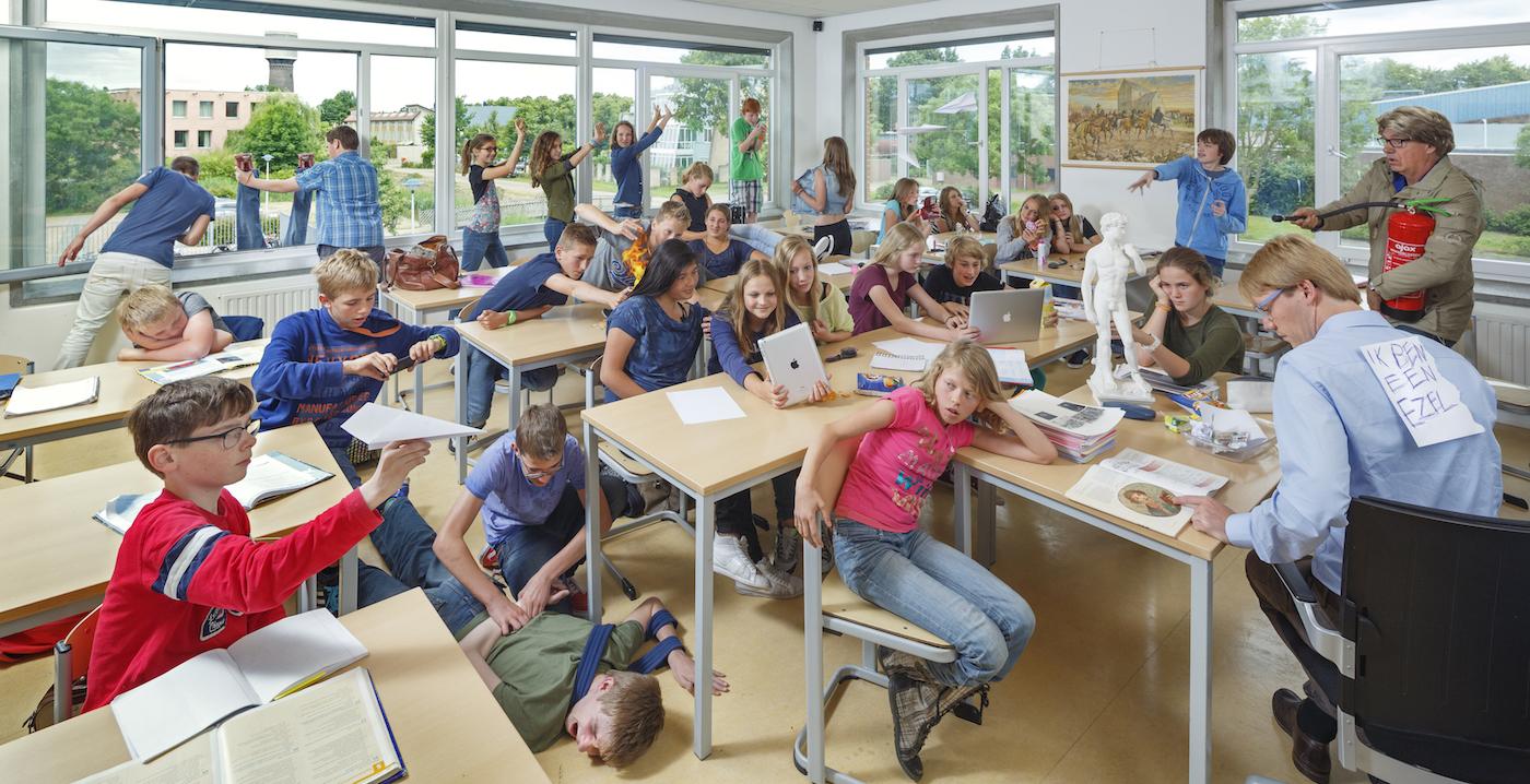 Klieren en wiebelen in de klas is nuttig