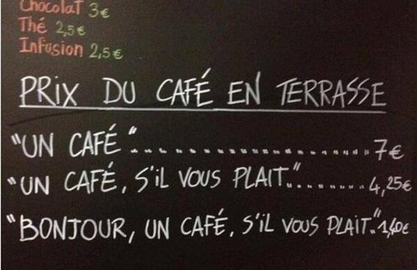 Koffie alsjeblieft