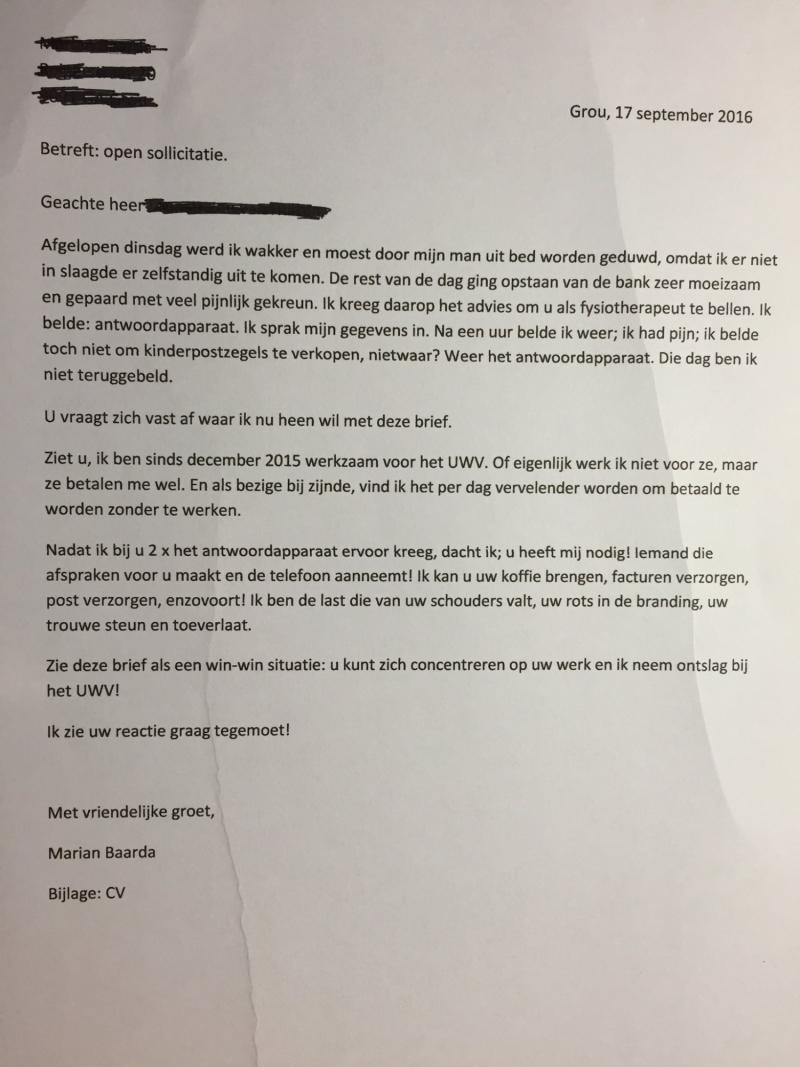 opening open sollicitatie Omdenken   Open sollicitatie