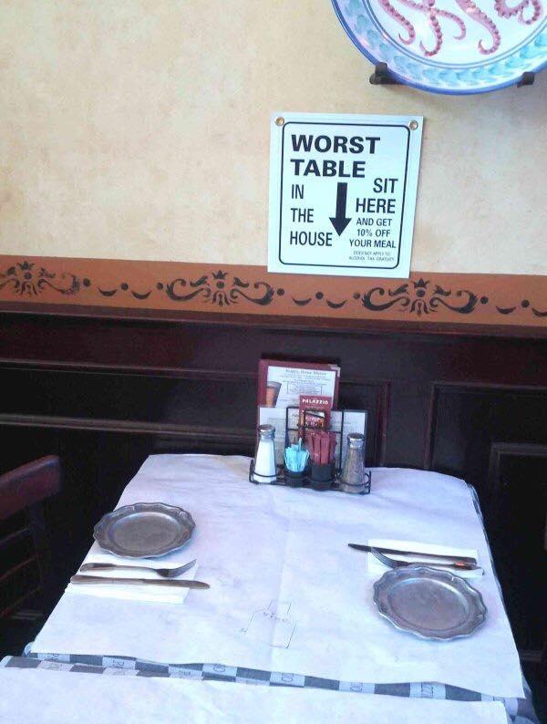 De slechtste tafel