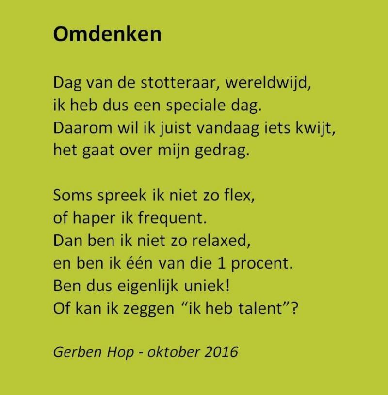 Populair Omdenken - Wereldstotterdag TR69