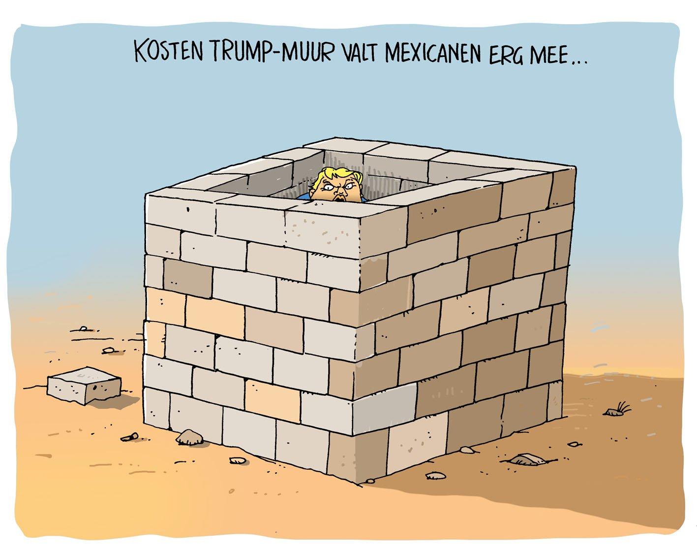 Kosten Trump-muur vallen mee