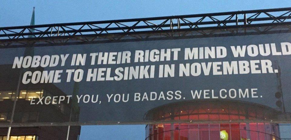 Warmer kunnen ze het in Helsinki niet maken