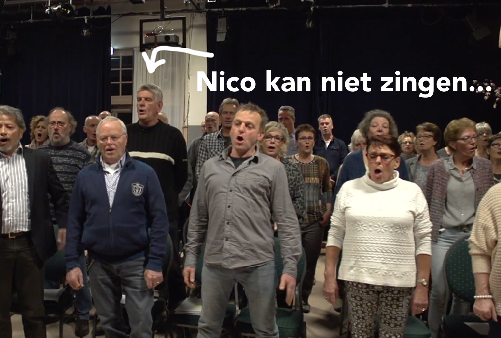 Omdenken Gecertificeerd: Nico kan niet zingen