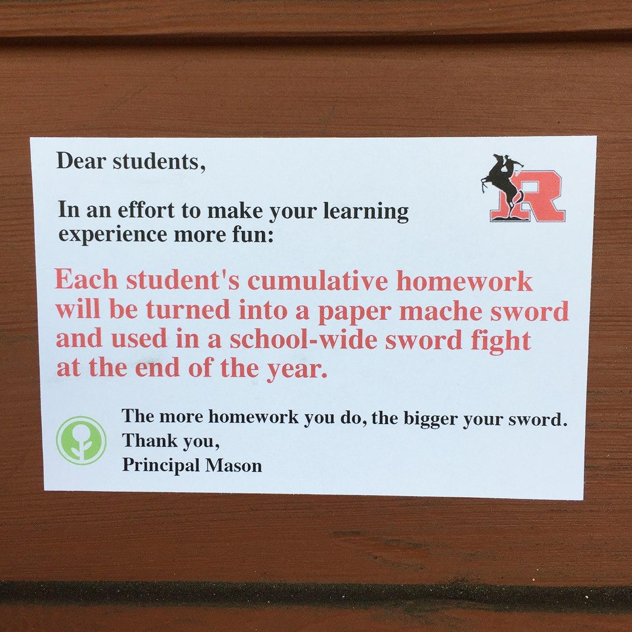 Hoe meer huiswerk, hoe toffer je zwaard