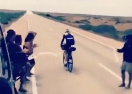 De eenzame fietsers