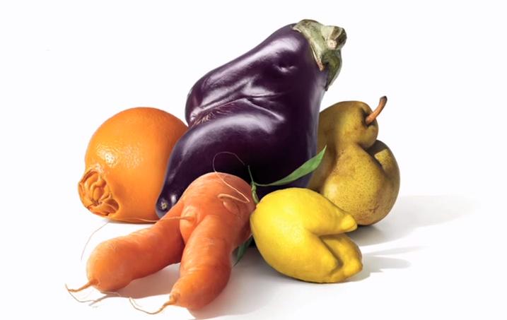 Mislukte groente en fruit