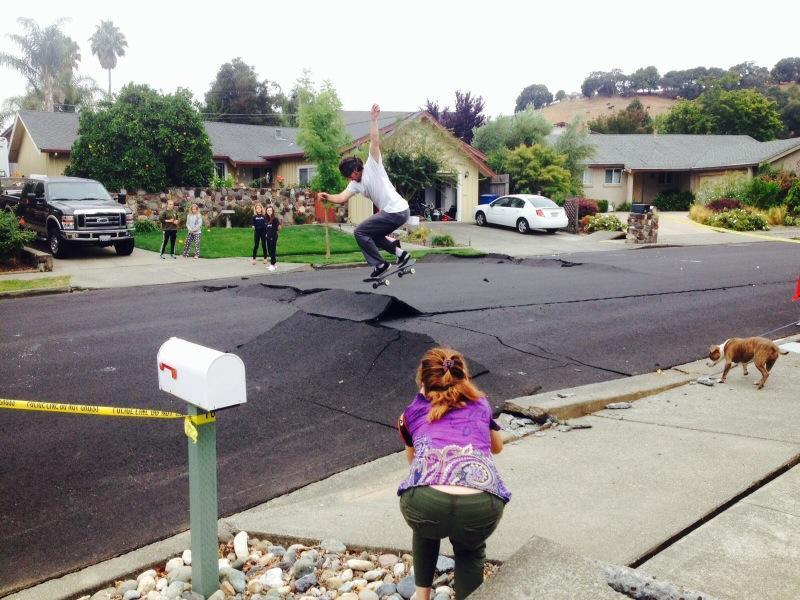 Aardbeving? Skatepark!